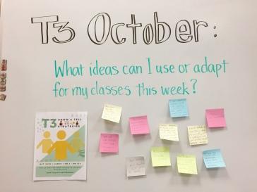 T3 Teacher Takeaways