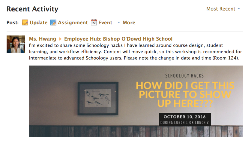 Favorite Schoology Hacks – O'Dowd Tech