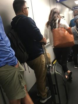 Gavin boarding the flight to ISTE