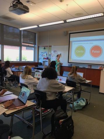 PearDeck diplays the teacher's interactive presentation on student screens.